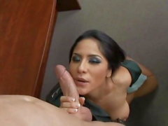 Busty general Jenaveve Jolie sucks and fucks a lucky private