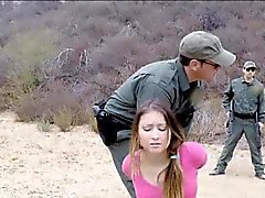 Big boobs amateur slut Bliss Dulce anal fucked by BP agent