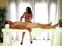 obscenely horny special massager gives great blowjob