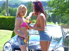 wet rims cleaners threesome - girlsrimming - anal