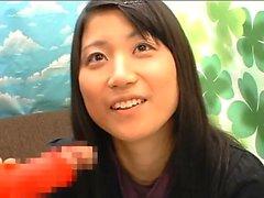 El crudo mamada asiático y toying