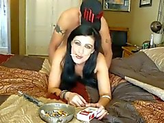 smoking sexe brune wife