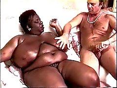 Kandee Lopez ( Siyah ŞİŞMAN GÜZEL KADINLAR ) ve Blake'in Palmer'ın (Beyaz American)