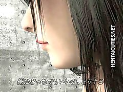 Pechugón descarada hentai en 3D que muestra chocho de color rosa