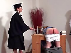 Teacher canes hard