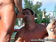 Bisex cumshot hardcore orgy group