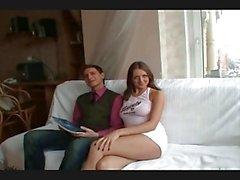 Härligt lång Unga ryska brunett knullad