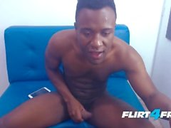 Josh Torner on Flirt4Free - Thick Dicked Gay Latino Shoots a Big Load