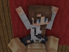 Minecraft chica se la follan