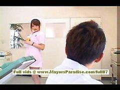 Акихо Ешизава сексуальный азиатская медсестры пользуется дразня к врачу