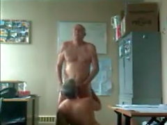 str8 married man action: coworkers in office after work fun