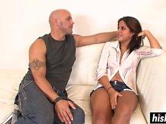 Big booty Latina saa raivoaa akselia