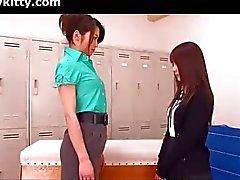 Japanse lesbische leraar en leerling