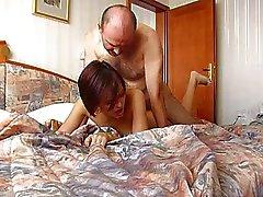 Old Man Cums Inside Annas Tight Tsjechische Pussy