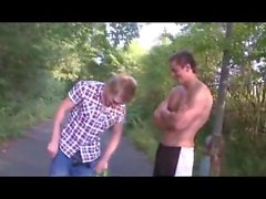 Monkey Boy Strips in Public Dare