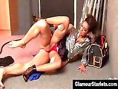 Euro fetish glamorous slut gets a cumshot
