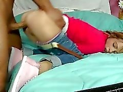 Young schoolgirl Laney Boggs get a dick behind