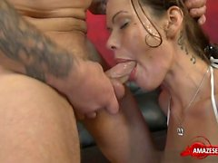 Hot pornstar throat gag and facial