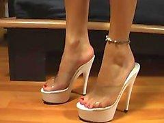 grazioso piedi i tacchi piattaforma Cancella