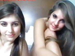 Båda Tonåringar Sluts chattar på Webcam 1