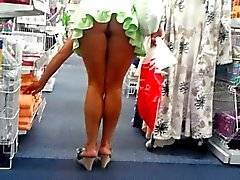 de shoping de Upskirt bragas no