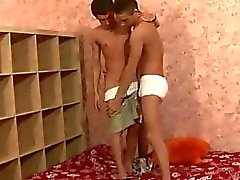 Hot teen Homosexuell Paar bei Hardcore-Action
