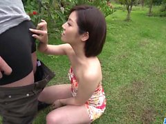 Dashing Asyalı kadın, Minami Asano, dış mekan tam porno