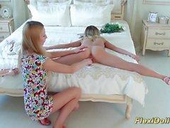 La muñeca flexi real estirada