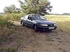 Горячие бабуся трахнут на автомобиле