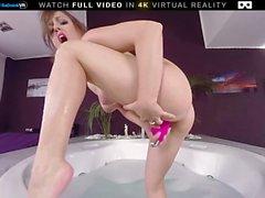 BaDoink VR Джакузи Удовлетворение Мириам Прадо VR Porn