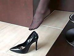 5inch pompe nero con le calze