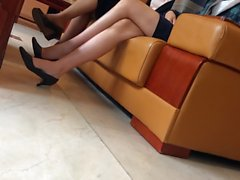 Candid Asian Shoeplay 1 Nov 2016