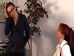 Boss seduces her employee with joy!!!.