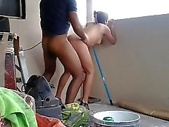 Desi jovenes las relaciones sexuales en el balcón hoteest