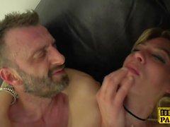European sub slut slapped during rough anal