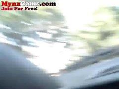 Webcam adolescente a masturbarem-se em seu carro