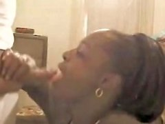 Ebony épouse sucer coq