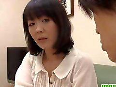 Mature Asian wife Hitomi enjoys an erotic shower