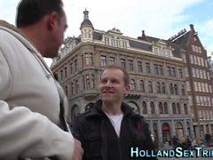 Dutch hooker gets jizzed