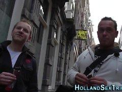 Hollantilainen haukkuri saa jizzed