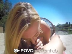 POVD Outdoor vittu ja kasvojen pienten breasted vaalea Alexa Grace