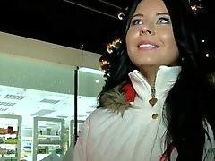 Czech girl creampied for cash