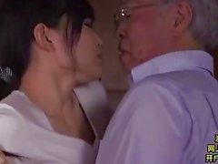 Midori Shino hukuk onun eski babası Pleasuring