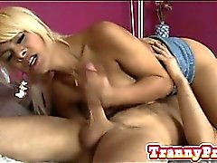 Tranny Kim enjoyed evry second in banging