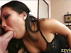 Asa Akira sucking big cock