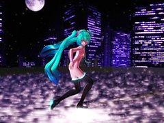 MASHUP 3D MMD eco com Miku, Meiko, Luka e Haku
