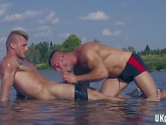 big dick gay threesome e cumshot feature video 1