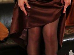 Zwarte panty en ultra hete kous