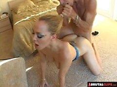 BrutalClips - Dominatrix Fucks Slave And Swallows
