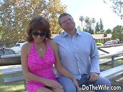 Ältere Frau Desi Foxx nehmen großen, fetten Schwanz